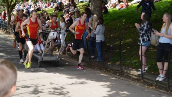Harrogate Harriers win the 49th Bed Race