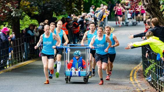 G H Brooks Win Bed Race for Second Year